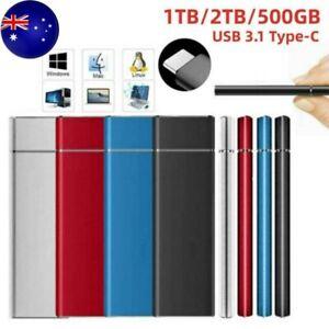 1TB 2TB Mini USB 3.1 External SSD Solid State Drive Portable Mobile Hard Drive