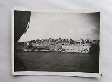 1946 B/W Photograph. View of Valletta, Malta #3. Taken from Troop Carrier Ship