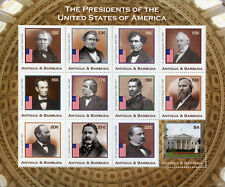 Antigua & Barbuda Stamps 2018 MNH US Presidents Abraham Lincoln 12v M/S II