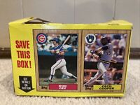 1987 TOPPS baseball WAX BOX 2 PANEL CARDS cecil cooper D Ron Cey C uncut