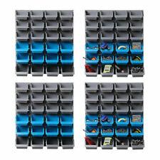 Giantz Wall-Mounted 96 Storage Bin Rack Shelving Organiser - BIN-WALL-48X2