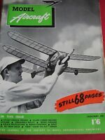 RARE VINTAGE MODEL AIRCRAFT MAG JANUARY 1951 TWISTER TINIFLYTE AEROMODELLER