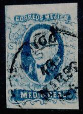 zv01 Mexico #1b 1/2R (Guadalajara) w/o ovpt, Sz 297 VF Example Est $40-60