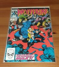Wolverine #7 May,1989,featuring the Incredible Hulk,very fine