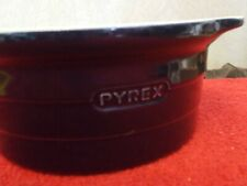 Blue Pyrex Round Oven Proof Casserole Dish Roaster Ceramic Baking Serving (#9)