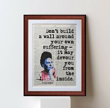 Frida Kahlo Quote dictionary page art print gift literary book quotes