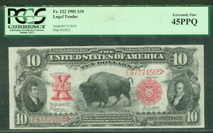 "$10.00 Legal Tender ""Bison"", 1901, Fr. #122, PCGS Grade 45PPQ XF"