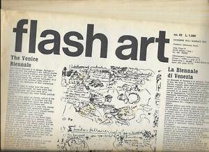 FLASH ART magazine dicembre 1973/gennaio1974,Nannucci, Isgrò,Penck,Poesia visiva