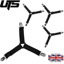 4pcs Triangle Bed Sheet Mattress Holder Clips Fastener Grippers Suspender Straps