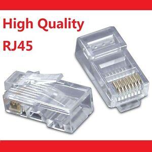 50 X RJ45 CAT5e CAT5 CAT6 Modular Plug Network Connector - Brand New
