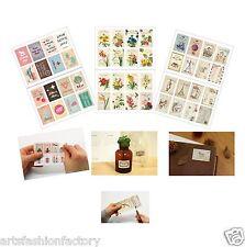 2-sheet (16-count )Mix Pattern Stamps Scrapbook Deco Craft Stickers Sticker