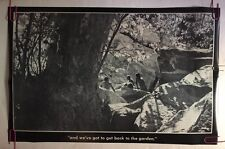 Vintage Poster We've Got To Get Back Tonthe Garden 1970 Hippy Woodstock Peace