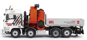 CON77214/0 - Camion plateau MAN TGS XL Euro6 équipé d'une grue PALFINGER PK92002
