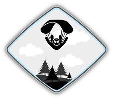 Parachute Jumper Car Bumper Sticker Decal 5'' x 4''
