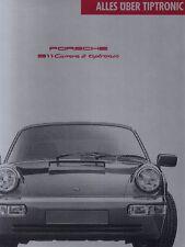 PORSCHE 911 964 CARRERA 2 TIPTRONIC Technik Prospekt Brochure 1990 G