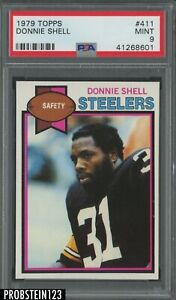 1979 Topps Football #411 Donnie Shell Pittsburgh Steelers PSA 9 MINT