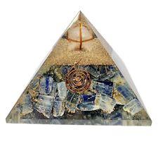 Kyanite Crystal Merkaba Orgonite Orgone Pyramid EMF Protection Energy