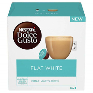 NESCAFÉ Dolce Gusto Flat White Coffee Pods, 16 Capsules Pack of 3, Total 48 48