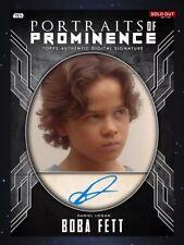 Topps Star Wars Portraits Of Prominence Daniel Logan Signature DIGITAL Card