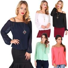 Peasant Machine Washable Solid Tops for Women