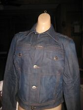 New Tommy Hilfiger Ladies Navy Denim Cropped Jacket with Buttons Medium NWT $125
