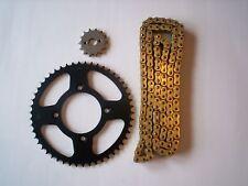 HONDA XR100R XR 100 R NEW SPROCKET  & GOLD CHAIN SET 14/50  1985 - 2003