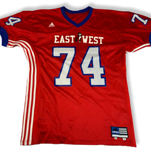 Vintage Adidas Made in USA NFL Jersey East West NR 74 Pro Ball Edition. Size 52.