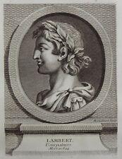 Antique Print Gravure Portrait LAMBERT Usurpateur gravé par R. Gaillard