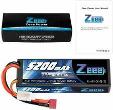 ZEEE 5200mAh 50C 7.4V Lipo Battery 2S Deans Hardcase for RC Car Truck Boat