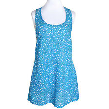 Marc Jacobs Adorable Blue White Confetti Print Sleeveless Sun Dress Petite - P