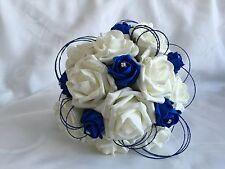 wedding flowers Ivory rose bouquet bride bridesmaid Buttonholes flower girl wand