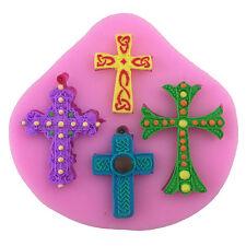 3D Cross Jesus Silicone Cake Mold Fondant Cupcake Sugarcraft Decoration Tool Set