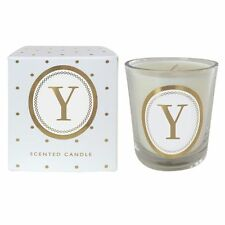 """Bombay Duck NEW! Alphabet """"Y"""" Scented Votive Gift-Boxed Candle"""