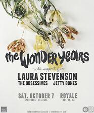 The Wonder Years/Laura Stevenson/Obsessives 2017 Boston,Mass Concert Tour Poster
