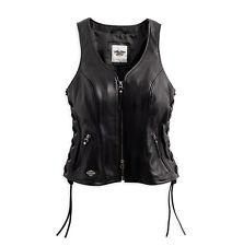 Harley-Davidson Womens Avenue Leather Vest 98071-14vw Genuine Extra Large