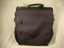 TUMI BACKPACK CAMERA BRIEF CARRY ON BAG DAYPACK IPAD BLACK NYLON LEATHER DETAIL