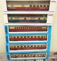Märklin 4294, 4295, 4296, 4298  6 Stück TEE-IC-EC-Wagen DB Epoche 4/5 mit Licht