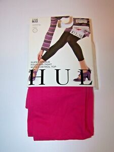 Hue Super Opaque Footless Tights With Control Top Neon Pink  Size 1 100-150 lbs.