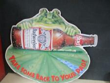 Budweiser Anheuser-Busch Frog Take Some Home To Your Pad Metal Sign