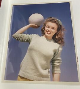 1945 Marilyn Monroe Andre De Dienes Stamp Original Photo Beach Volleyball Norma
