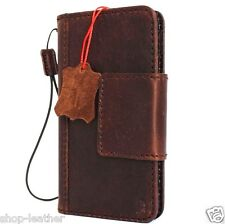 genuine vintage full leather Case for apple iphone 6 plus book wallet cover 6s D