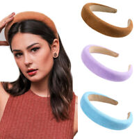 Women Girls Velvet Solid Color Headband Fashion Sponge Hairband Hair Accessories