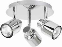Benton 3 Way Round Plate Spot Chrome - 16951