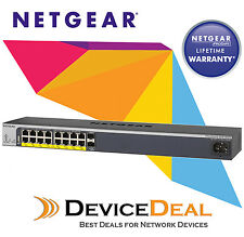 NETGEAR GS418TPP ProSAFE 16PORT PoE+ Gigabit Smart Managed Switch + 2 SFP (240W)