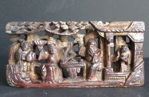 Antique Sculpture On Wood Chinese