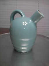 Mohawk Liqueur R-4 Jug. Vintage Unique antique bare ware seafoam green.