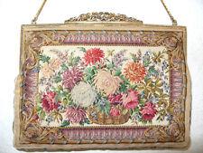Größere Petit Point Tasche, Feinste Lupenstickerei,Gobelin, Embroidery magnifier