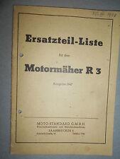 Motostandard motoculteur R3 1948 : Ersatzteilliste