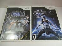 Star Wars: The Force Unleashed I & II 2 Nintendo Wii Lot Bundle Both Complete