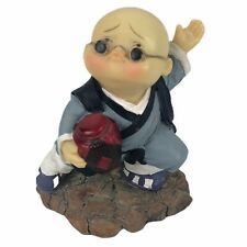 Collectible Little Boy Monk Kissing face Kung Fu Figurine Statue